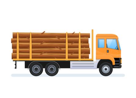 Logging Companies Illinois - Walnut Timber Buyers - Truck Hauling Cut Logs