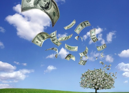 money flying from a tree, representing the value you get from a logging contractor in Illinois