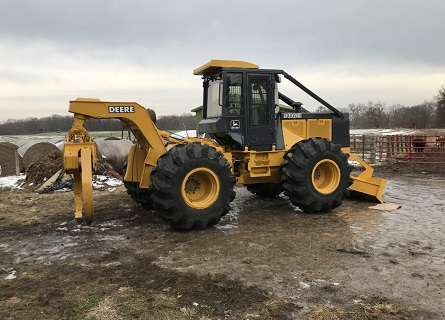 A tractor for Logging Contractors in Fulton County IL